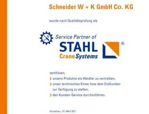 SERVICE PARTNER VON STAHL CRANESYSTEMS